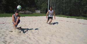 Trénování plážového volejbalu sBeach Servicem na Žižkově