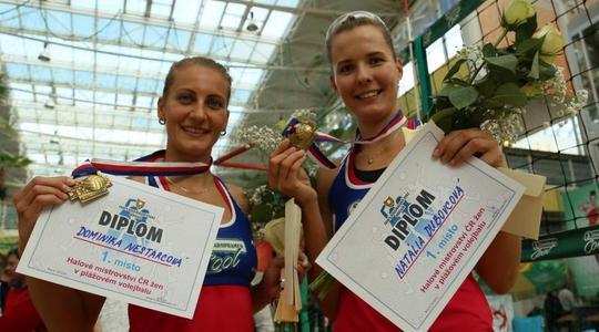 Na halovém MČR v beach volejbalu zvítězily slovenské jedničky
