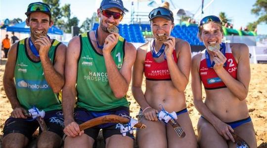Do Austrálie zavítaly hlavně domácí dvojice, získaly tři medaile