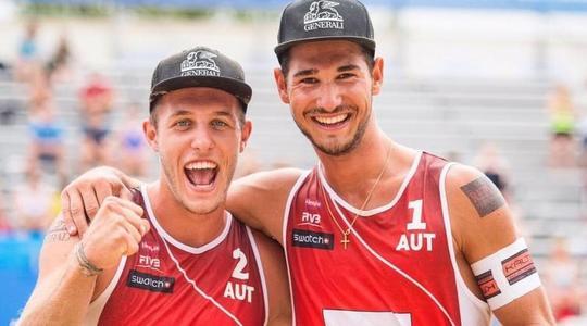 """""""Přišli jsme na způsob, jak získat během hry ještě víc energie,"""" říká mladý nadějný rakouský beachvolejbalista Martin Ermacora"""